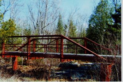 Red Bridge in Spring