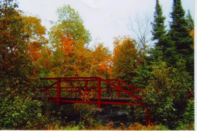 Red Bridge in Fall